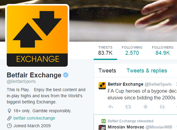 Betfair Exchange   BetfairSports    Twitter