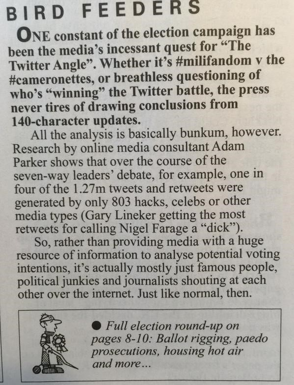 Private Eye Twitter analysis